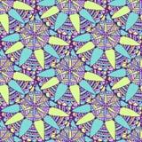 Sömlös mandalabakgrund i vektor Stam- etnisk modell Zentangle för vuxen sida för färgläggningbok eller textildesign Arkivbild