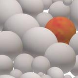 Sömlös modell av gråa glansiga bollar 3d Royaltyfria Bilder
