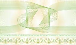 Sömlös modell, bakgrund, dekorativ guillocherosett för certifikat eller diplom Arkivfoton