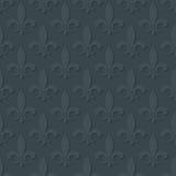 Sömlös modell för grå fleur de lis kunglig lilja Arkivbild