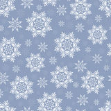 Sömlös modell för jul med snöflingor på enblått backgr Fotografering för Bildbyråer