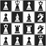Sömlös modell för monokromt schack Royaltyfria Foton