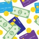 Sömlös modell för pengar Arkivbild