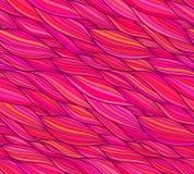 Sömlös modell för rosa vektorklotterhår Royaltyfria Bilder
