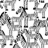 Sömlös modell för sebra Savannah Animal prydnad Te för löst djur Royaltyfria Bilder