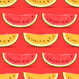 Sömlös modell för vattenmelon Royaltyfri Bild