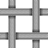 Sömlös modell för vektor av flätad metallkabel Royaltyfri Foto
