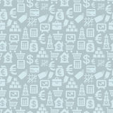 Sömlös modell för vektor med finanssymboler Royaltyfria Bilder