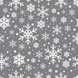 Sömlös modell för vektor med snöflingor Arkivfoto