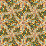 Sömlös modell med den färgrika blommakrysantemumet Arkivbild