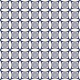 Sömlös modell med den symmetriska geometriska prydnaden Upprepat abstrakt begrepp cirklar bakgrund etnisk wallpaper Royaltyfria Bilder
