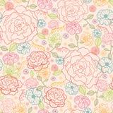 Sömlös modellbakgrund för rosa rosor Arkivfoto