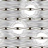 Sömlös monokrom modell. Abstrakt bakgrund för vektor. Arkivbilder