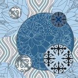 Sömlös patchworkmodell för vektor orientalisk eller ryssdesign Royaltyfri Fotografi