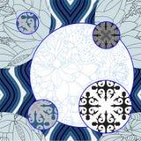 Sömlös patchworkmodell för vektor orientalisk eller ryssdesign Royaltyfri Bild