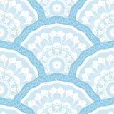 Sömlös patchworkmodellram av moderiktiga kulöra blom- blommategelplattacirklar För tapetyttersidatexturer tyg Royaltyfria Foton