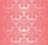 Sömlös rosa färgtapet - prydnad med rosor Arkivfoton