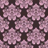 Sömlös rosa utsmyckad tapet - prydnad med rosor Royaltyfri Fotografi