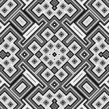Sömlös svartvit geometrisk bakgrund Arkivbilder