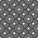 Sömlös svartvit geometrisk vektorbakgrund, enkel str Royaltyfri Bild