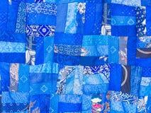 Sömlös textur för patchworkfilt Arkivfoto