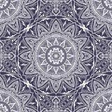 Sömlös textur för vektor med den blom- mandalaen i indisk stil Fotografering för Bildbyråer