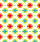 Sömlös textur med geometriska former, färgrik bakgrund Arkivbild