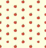 Sömlös textur med ljusa äpplen, matbakgrund Arkivbild