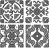 Sömlösa geometriska bakgrunder Arkivfoton