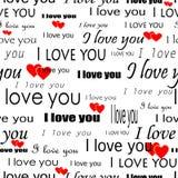 sömlöst valentinwallpaper Royaltyfri Bild
