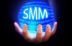 SMM kuli ziemskiej tła planu błękitny kolor Zdjęcia Royalty Free