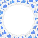 Smm and social background with thumb up icons. stock illustration
