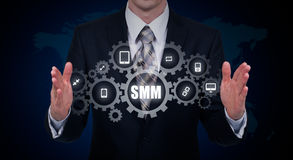SMM Social Media Marketing Advertising Online Business Concept Stock Photography