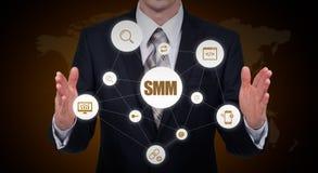 SMM Social Media Marketing Advertising Online Business Concept Stock Image