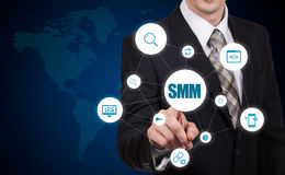 SMM Social Media Marketing Advertising Online Business Concept Royalty Free Stock Photography