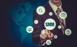 SMM Social Media Marketing Advertising Online Business Concept Royalty Free Stock Photos
