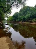 Smołowcowa rzeka w Skalistej górze Pólnocna Karolina Obrazy Royalty Free