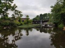 Smołowcowy rzeki bitwy park zdjęcie royalty free