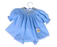 Smock art (baby's dress) Royalty Free Stock Photography