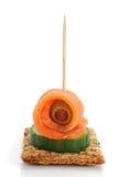 Smocked Lachs-Imbiß lizenzfreies stockfoto