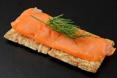 Smocked Lachs-Imbiß lizenzfreie stockfotografie