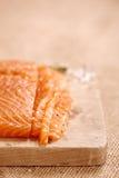 Smocked salmon homemade Royalty Free Stock Image