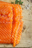 Smocked salmon homemade Royalty Free Stock Image