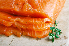 Smocked salmon homemade Stock Photo