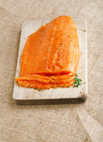 Smocked salmon homemade Stock Images