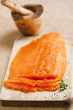 Smocked salmon homemade Stock Image