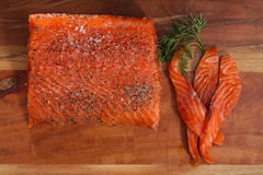 Smocked salmon homemade Royalty Free Stock Photography