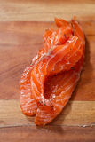 Smocked salmon slices Royalty Free Stock Images