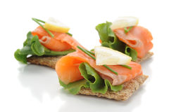 Smocked Salmon Snack Stock Images