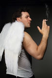 Smocking angel Royalty Free Stock Photos